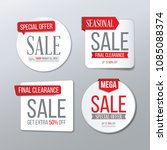 sale banner template. final... | Shutterstock .eps vector #1085088374