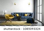 chevron interior living room ... | Shutterstock . vector #1085093324