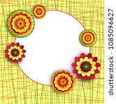 white round frame with bright... | Shutterstock .eps vector #1085096627