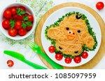 fun food idea for kids   cute... | Shutterstock . vector #1085097959