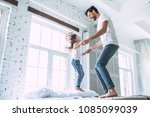 i love you  dad  handsome young ... | Shutterstock . vector #1085099039