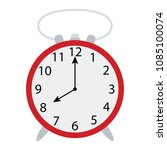 alarm clock icon. flat color...