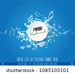 abstract music festival... | Shutterstock .eps vector #1085103101