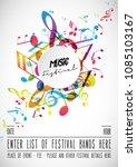 abstract music festival...   Shutterstock .eps vector #1085103167