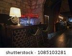 modern jazz bar interior design ... | Shutterstock . vector #1085103281