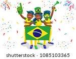 russia 2018 world cup  brazil... | Shutterstock .eps vector #1085103365