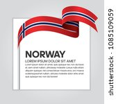 norway flag background | Shutterstock .eps vector #1085109059