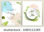 wedding invitation  invitation...   Shutterstock .eps vector #1085111285