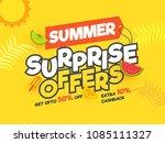 summer surprise offers  banner... | Shutterstock .eps vector #1085111327
