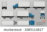 truck vector mockup. isolated... | Shutterstock .eps vector #1085113817