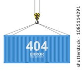 cargo container isolated on... | Shutterstock .eps vector #1085114291
