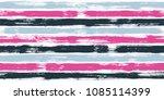 modern watercolor brush stripes ... | Shutterstock .eps vector #1085114399