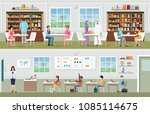 academic students at the... | Shutterstock .eps vector #1085114675