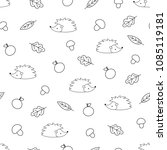 vector seamless pattern of... | Shutterstock .eps vector #1085119181