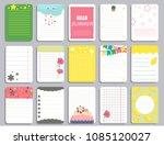 kids notebook page template... | Shutterstock .eps vector #1085120027