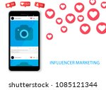 influencer marketing concept... | Shutterstock .eps vector #1085121344