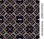 geometry of forgotten gods.... | Shutterstock .eps vector #1085123531
