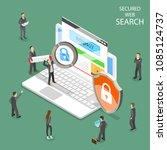 secure web search flat... | Shutterstock .eps vector #1085124737