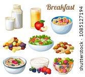 breakfast 2. set of cartoon... | Shutterstock . vector #1085127194