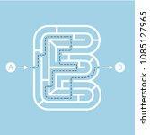 letter e shape maze labyrinth ...   Shutterstock .eps vector #1085127965
