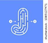 letter j shape maze labyrinth ... | Shutterstock .eps vector #1085127971