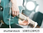 close up of man playing on... | Shutterstock . vector #1085128925