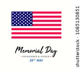 memorial day greeting card... | Shutterstock .eps vector #1085130851