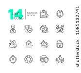 insurance   set of line design... | Shutterstock .eps vector #1085132741