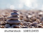The Pyramid Of Pebbles On The...