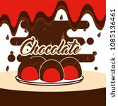chocolate candy card | Shutterstock .eps vector #1085136461