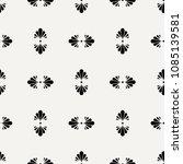 seamless flower polka pattern.... | Shutterstock .eps vector #1085139581