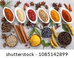 colorful and aromatic spices... | Shutterstock . vector #1085142899