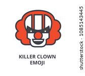 killer clown emoji vector line... | Shutterstock .eps vector #1085143445