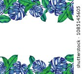 hand painted watercolot... | Shutterstock . vector #1085145605