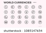 currency icons. dollar  euro... | Shutterstock .eps vector #1085147654