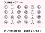 crypto currency icons. bitcoin  ... | Shutterstock .eps vector #1085147657