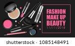 makeup vector banner.... | Shutterstock .eps vector #1085148491