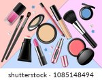 colorful realistic make up... | Shutterstock .eps vector #1085148494