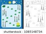 preschool worksheet for... | Shutterstock .eps vector #1085148734