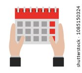 hands with calendar reminder... | Shutterstock .eps vector #1085150324