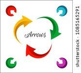 bright circle arrows flow icon. ...