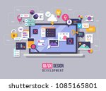 the process of developing... | Shutterstock .eps vector #1085165801