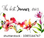summer flowers with title the... | Shutterstock . vector #1085166767