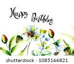 flowers watercolour... | Shutterstock . vector #1085166821