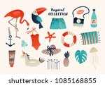summer vector vintage style... | Shutterstock .eps vector #1085168855