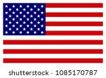 american flag. vector image of... | Shutterstock .eps vector #1085170787