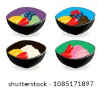 vector set of ice cream ... | Shutterstock .eps vector #1085171897