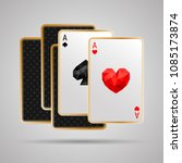 two aces in five card poker... | Shutterstock .eps vector #1085173874