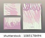 set of art postcards  modern... | Shutterstock .eps vector #1085178494