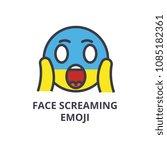 face screaming emoji vector... | Shutterstock .eps vector #1085182361
